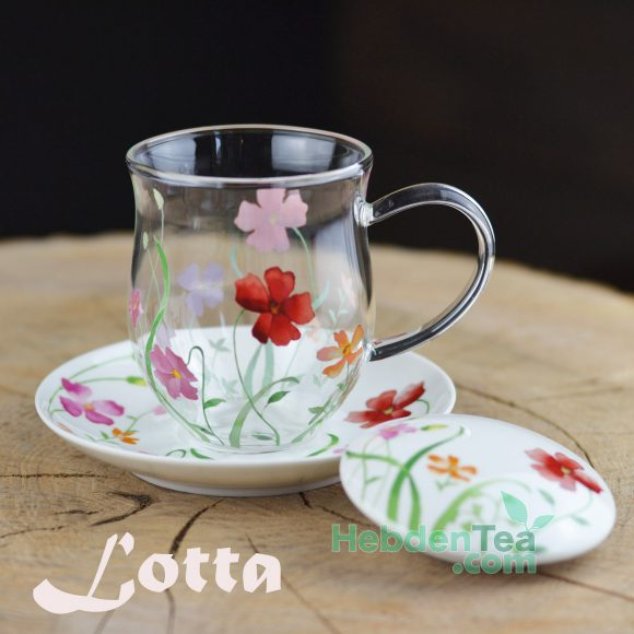 Lotta- Glass Floral Mug Lotta Hebden Tea